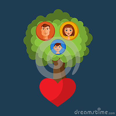Family tree Vector Illustration