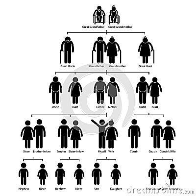 Family Tree Genealogy Diagram Pictogram