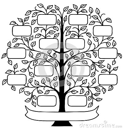 ... decorative family tree with room to personalize with family names