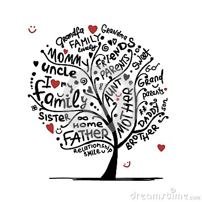 Free Family Tree Sketch For Your Design Royalty Free Stock Image - 36694596