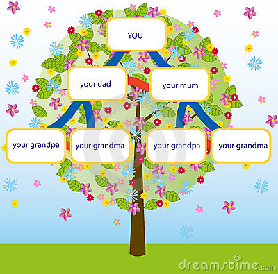 Family tree vector