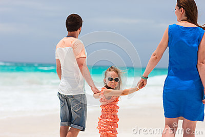 Family on a tropical vacation