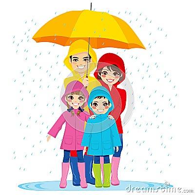 Free Family Under Umbrella Stock Photo - 39296990