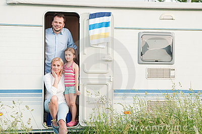 Family vacation in camper