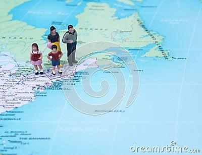 Family vacation concept destination New York