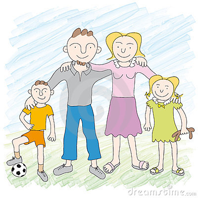 Free Family (vector) Stock Images - 6260144