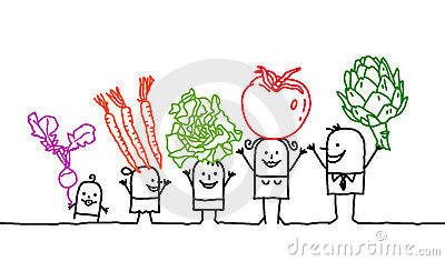 Family & vegetables