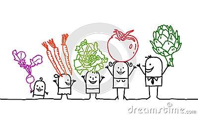 Family & vegetables