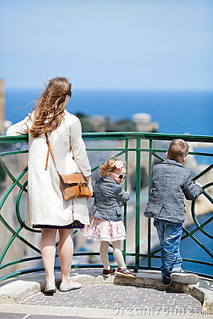 Family at viewpoint