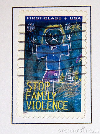 Family violence Editorial Stock Image