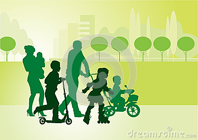 Family on walk_1