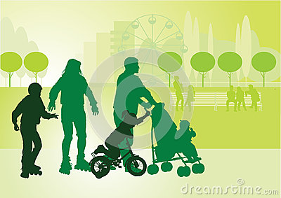 Family on walk_2