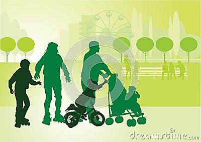 Family on walk_2