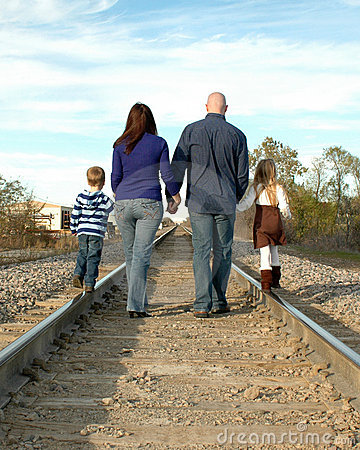 Family Walking Away