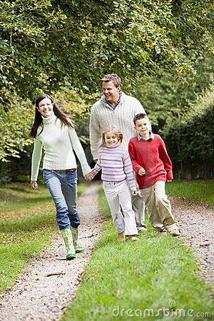 Free Family Walking Through Countryside Royalty Free Stock Photo - 5309175