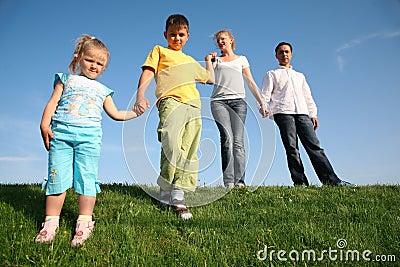 Family wih children