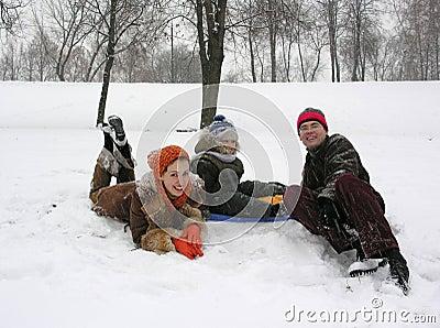 Family. winter.
