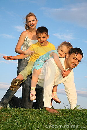 Free Family With Children Stock Photography - 2557672