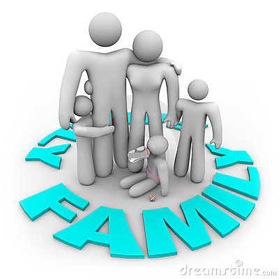 Family Word Circle - Mom Dad And Kids Royalty Free Stock Photography ...