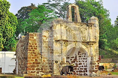 A Famosa堡垒在Melaka