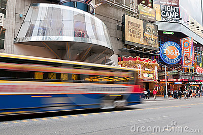 Famous 42nd Street in New York City Editorial Photo