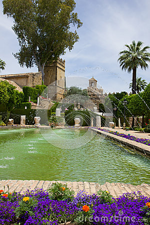 The famous Alcazar gardens  in Cordoba, Spain