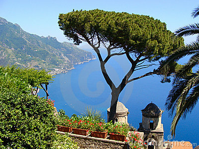 Famous Amalfi Coast view from Ravello