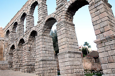 The famous ancient aqueduct