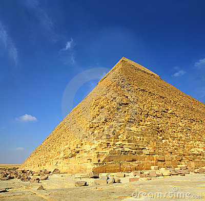 Famous ancient egypt Cheops pyramid