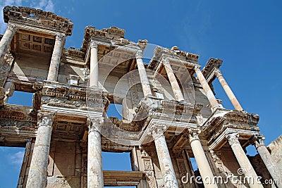 Famous antique celsusbibliothek in epthesos