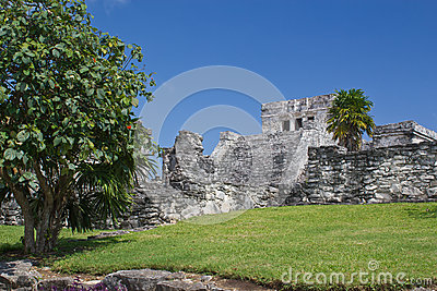 Famous archaeological ruins of Tulum in Mexico