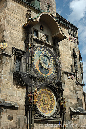 Famous Astronomical clock in Prague (Prague Orloj)