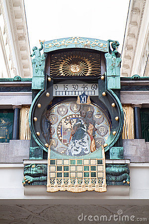 Famous astronomical clock in Vienna