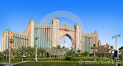 The famous Atlantis hotel on the Palm Island Editorial Image