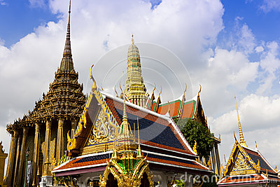 Famous Bangkok royal palace