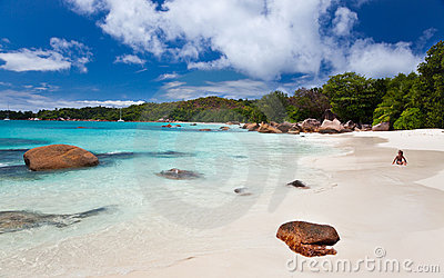 The famous beach of Anse Lazio, Seychelles