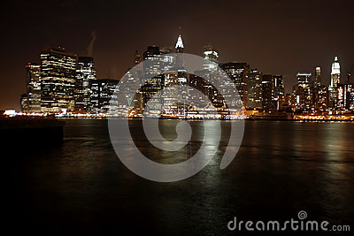 Famous and Beautiful night view to Manhattan from Brooklyn