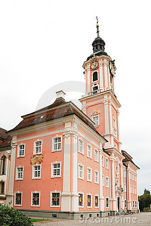 Famous Birnau pilgrimage church in Germany.