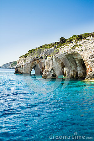 Free Famous Blue Caves View On Zakynthos Island, Greece Stock Photography - 43672352