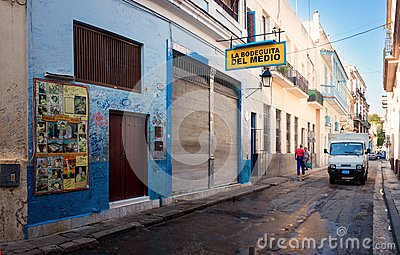 The famous Bodeguita del Medio in Havana Editorial Image