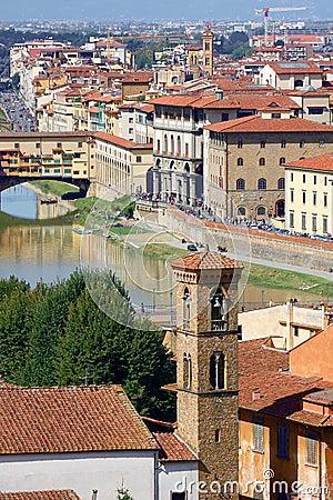 Famous bridge Ponte Vecchio in Florence, Italy