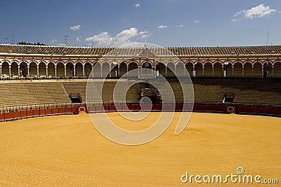 Famous bull ring in Seville