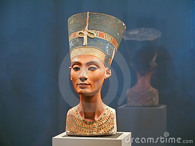 Famous bust of Queen Nefertiti Editorial Stock Image