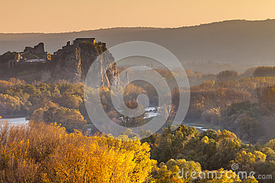 Famous castle Devin in Slovakia