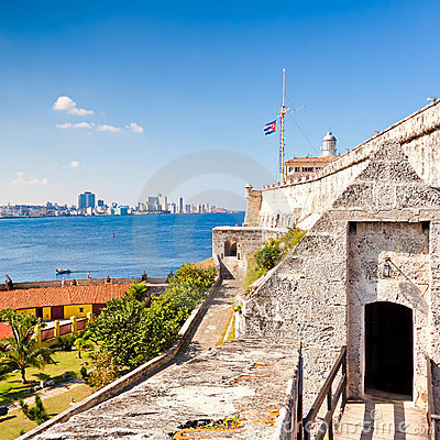 The famous castle of El Morro in Havana