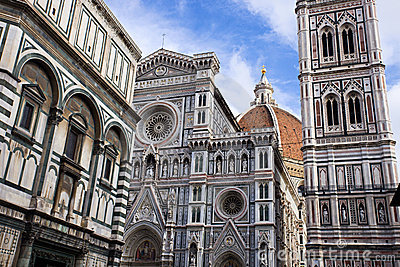 The famous cathedral in Florence, Italy.