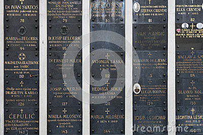 Famous cemetery Mirogoj Editorial Stock Image
