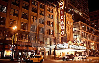 The famous Chicago Theater in Chicago, Illinois. Editorial Image