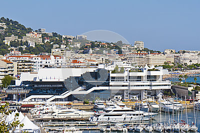 Famous Cinema Palace with Casino, Cannes, France Editorial Image