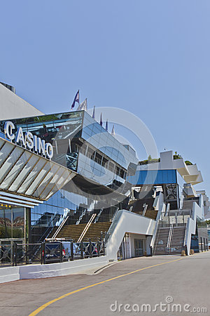 Famous Cinema Palace with Casino, Cannes, France Editorial Photo